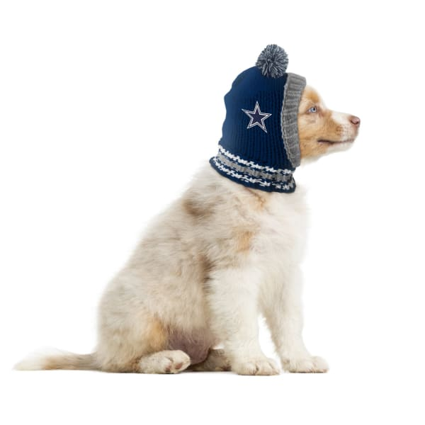 Dallas Cowboys Dog Knit Hat for Dogs - NFL Knit Hat for Dogs - 1