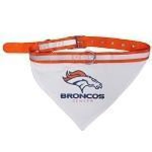 Denver Broncos Dog Collar Bandana - 1