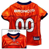 Denver Broncos Dog Jersey Blue Trim - NFL Dog Jerseys - 1