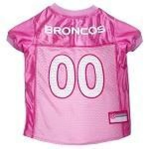 Denver Broncos Dog Jersey Pink - 1