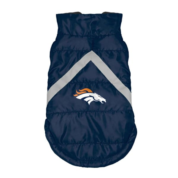 Denver Broncos Pet Puffer Vest for Dogs - NFL Pet Puffer Vest for Dogs - 1