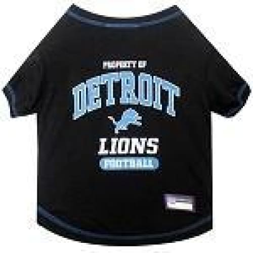 Detroit Lions Dog Tee Shirt Black - 1
