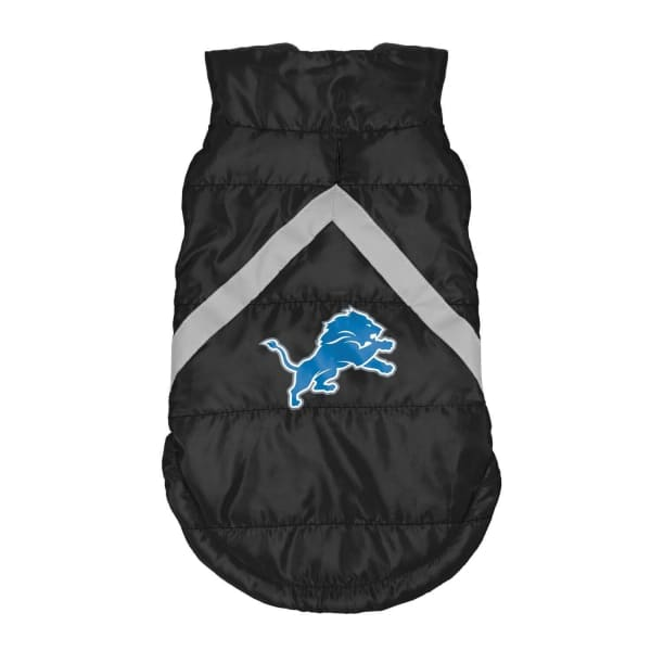 Detroit Lions Pet Puffer Vest for Dogs - NFL Pet Puffer Vest for Dogs - 1