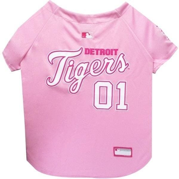 Detroit Tigers Dog Jersey Pink - 1