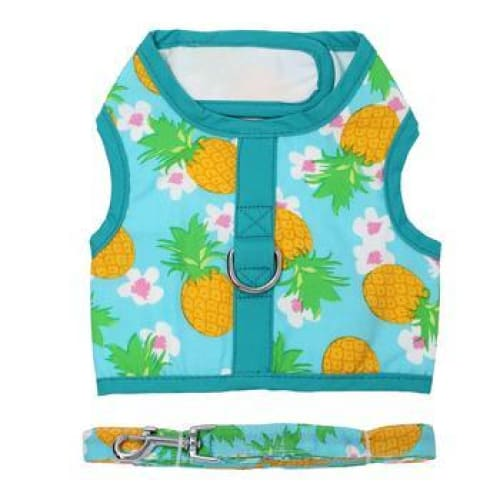 Dog Harness with Leash Pineapple Luau - Soft Dog Harnesses - 4