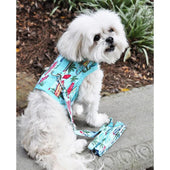 Dog Harness with Leash Surfboards and Palms - Soft Dog Harnesses - 1