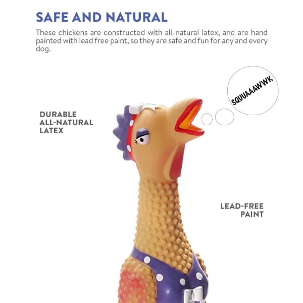 Earl the Chicken Squawker Dog Squeak Toy Sizing
