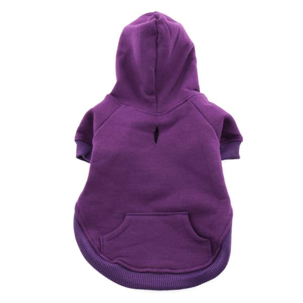 Flex-Fit Dog Hoodie - Purple - Dog Fleece Sweatshirts & Hoodies - 2