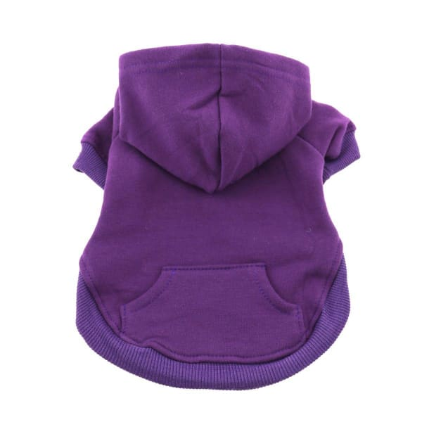 Flex-Fit Dog Hoodie - Purple - Dog Fleece Sweatshirts & Hoodies - 1