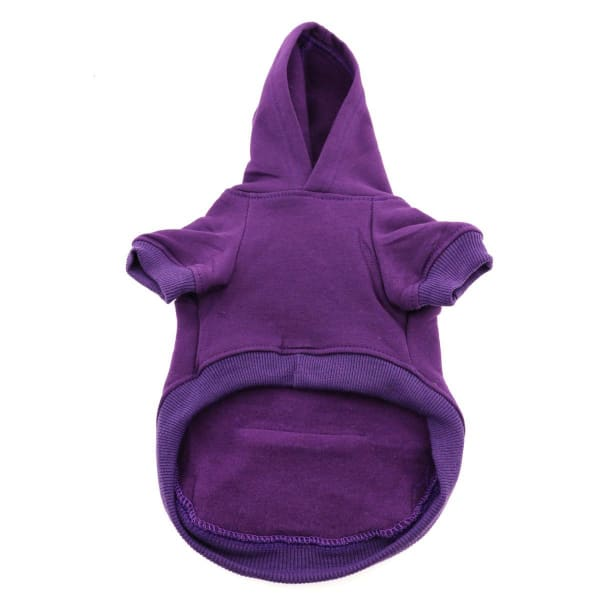 Flex-Fit Dog Hoodie - Purple - Dog Fleece Sweatshirts & Hoodies - 3