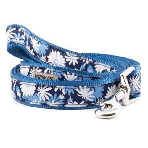 Flower Power Ribbon Dog Collar - Ribbon Dog Collars - 2