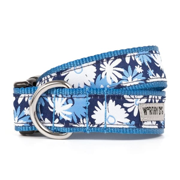 Flower Power Ribbon Dog Collar - Ribbon Dog Collars - 1