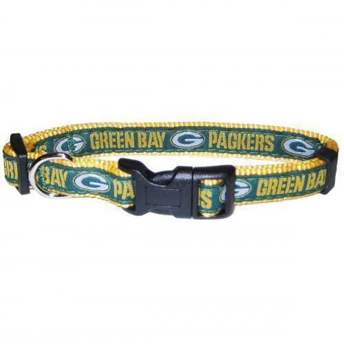 Green Bay Packers Dog Collar Ribbon - NFL Dog Collars - 1