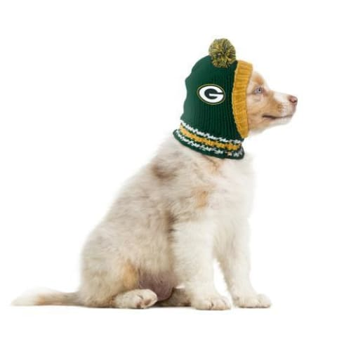 Green Bay Packers Dog Knit Hat for Dogs - NFL Knit Hat for Dogs - 1