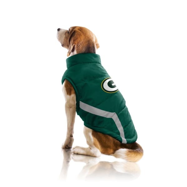 Green Bay Packers Pet Puffer Vest for Dogs - NFL Pet Puffer Vest for Dogs - 3