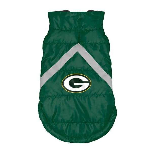 Green Bay Packers Pet Puffer Vest for Dogs - NFL Pet Puffer Vest for Dogs - 1