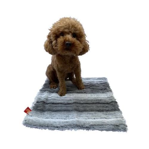 Grey Ombre Minkie Binkie Blanket for Dogs - Dog Blankets - 1