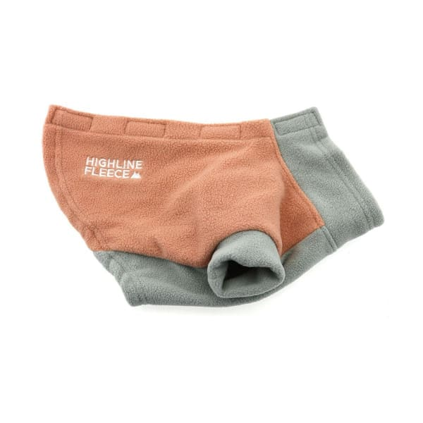 Highline Fleece Dog Coat - Coral and Gray - 2