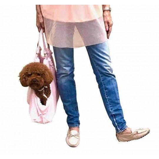 Hollywood Dog Tote Carrier in Pink Snake - Dog Purse Carriers - 2