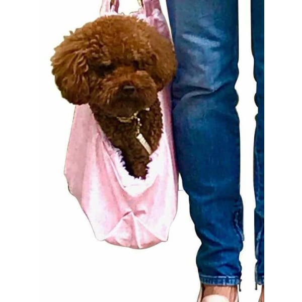 Hollywood Dog Tote Carrier in Pink Snake - Dog Purse Carriers - 3