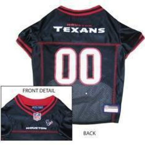 Houston Texans Dog Jersey Blue with Red Trim - 1