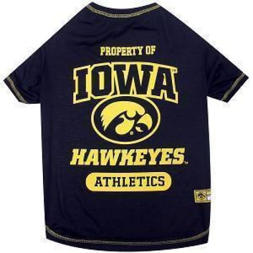 Iowa Hawkeyes Dog Tee Shirt - College Dog Shirts - 1