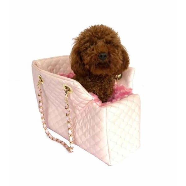 Kate Quilted Dog Carrier in Light Pink - 1