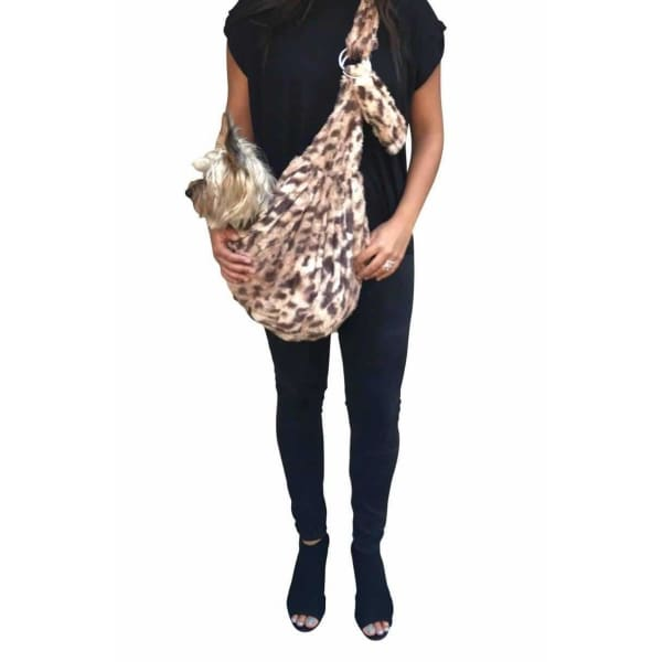 King Cheetah Adjustable Sling Bag for Dogs - Dog Purse Carriers - 1