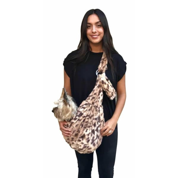 King Cheetah Adjustable Sling Bag for Dogs - Dog Purse Carriers - 2