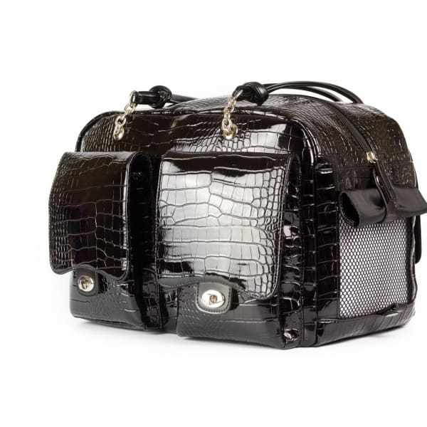 Kwigy-Bo Alex Dog Carrier Patent Croc - Purse Dog Carriers - 2
