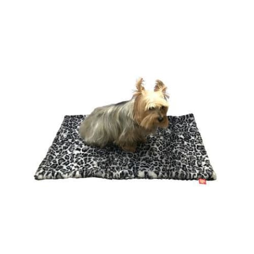 Leopard Steel Minkie Binkie Blanket for Dogs - Dog Blankets - 1