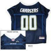 San Diego Chargers Dog Jersey with White Trim - 1
