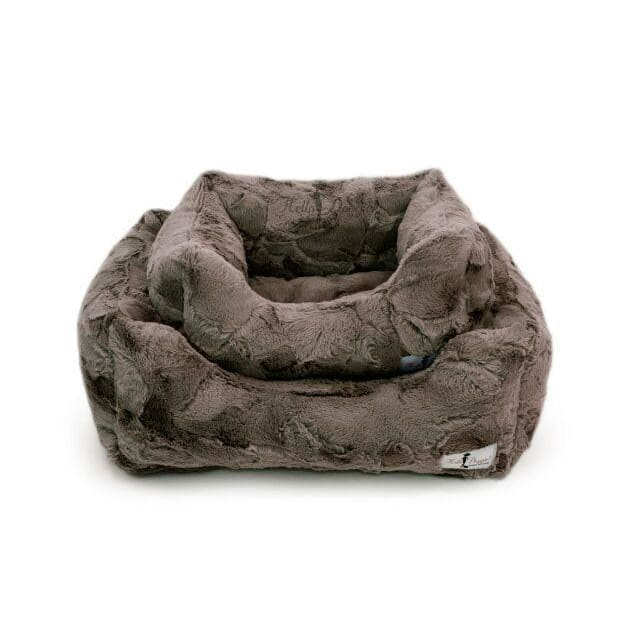 Luxe Dog Bed Pewter by Hello Doggie - Luxury Dog Beds - 1