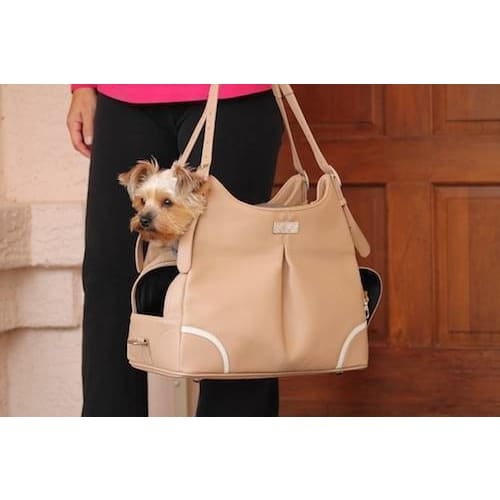 Mia Michelle Madison Mocha Pet Carrier - 2