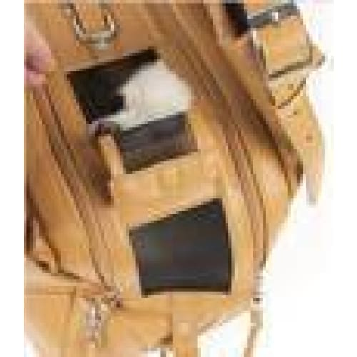 Mia Michelle Zoie Pet Carrier in Caramel Macchiato - 9