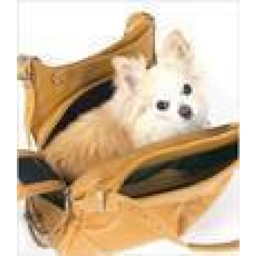 Mia Michelle Zoie Pet Carrier in Caramel Macchiato - 8