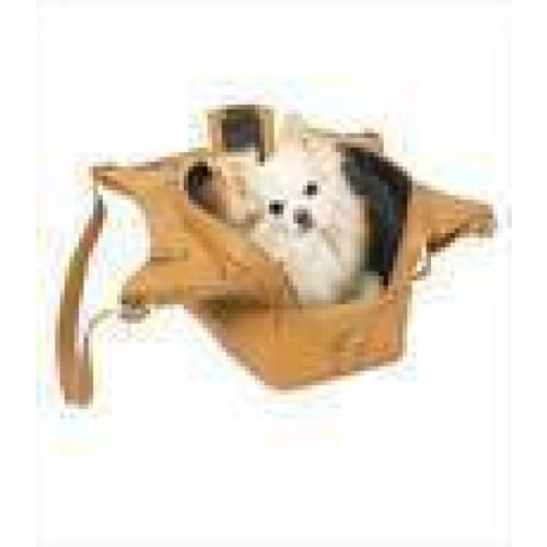 Mia Michelle Zoie Pet Carrier in Caramel Macchiato - 7