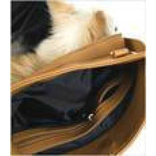 Mia Michelle Zoie Pet Carrier in Caramel Macchiato - 5
