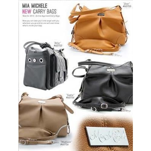 Mia Michelle Zoie Pet Carrier in Caramel Macchiato - 4