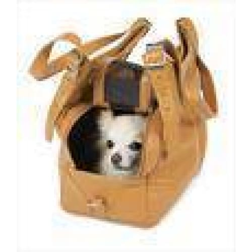 Mia Michelle Zoie Pet Carrier in Caramel Macchiato - 6