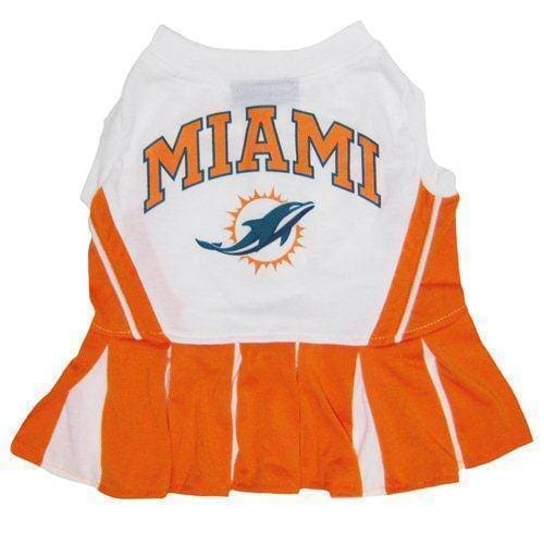 Miami Dolphins Cheerleader Dog Dress - NFL Dog Cheerleader Dresses - 1