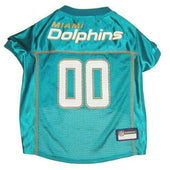 Miami Dolphins Dog Jersey Teal - NFL Dog Jerseys - 1