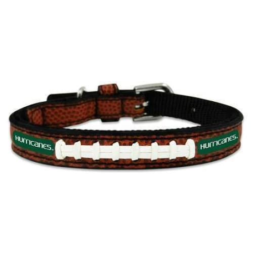 Miami Hurricanes Dog Collar Leather - College Dog Collars - 1