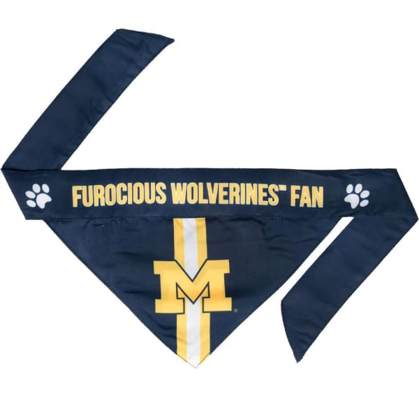 Michigan Wolverines Dog Bandana Tie On - 1