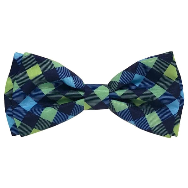 Navy Check Bow Tie for Dogs - Dog Bow Ties - 1