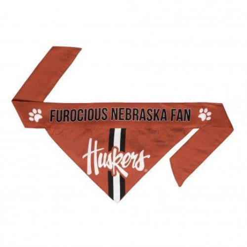 Nebraska Dog Bandana Tie On - 1