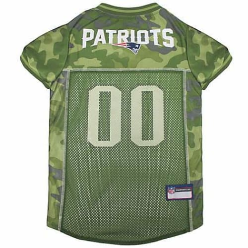 New England Patriots Dog Jersey CAMO - 1