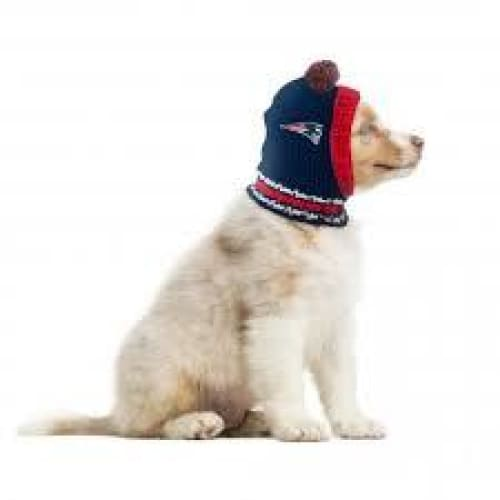 New England Patriots Dog Knit Hat for Dogs - 1