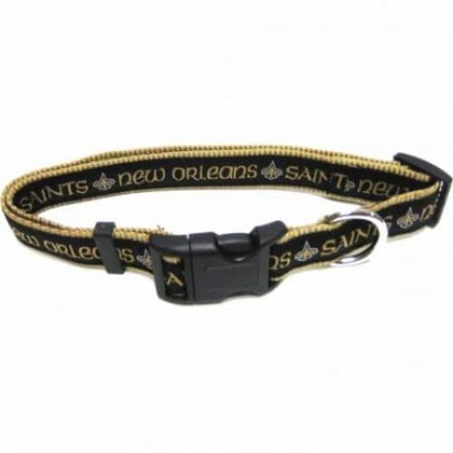 New Orleans Saints Dog Collar Ribbon - NFL Dog Collars - 1