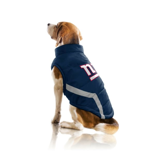 New York Giants Pet Puffer Vest for Dogs - NFL Pet Puffer Vest for Dogs - 3